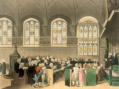 The Court of Chancery, London, England, early 19th century