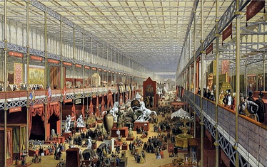 The Great Exhibition in London. Starting during the 18th century, the United Kingdom was the first country in the world to industrialise.