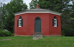 The eight-square schoolhouse or Dryden District School No. 5 is a one room schoolhouse just south of New York Route 13 in Dryden Township.