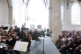 Mark Rutte, Prime Minister of the Netherlands, along with the rest of the public, awaiting the start of a 2011 performance of the St. Matthew Passion