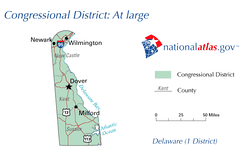 Map of Delaware's at-large congressional district