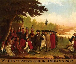 Penn's Treaty with the Indians. This treaty was never violated.