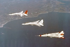 Grumman's VFX entry was designed around the TF30 engine, AWG-9 radar and AIM-54 missile intended for the F-111B; this eventually became the F-14A