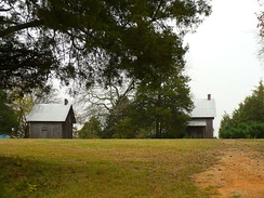 Remnants of the slave quarter at Faunsdale Plantation near Faunsdale, Alabama