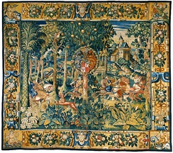 Tapestry with a hunting scene, late 16th century