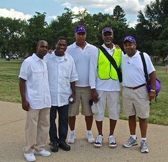 Omega Psi Phi chapter members at the 50th Anniversary of the March on Washington for Jobs and Freedom