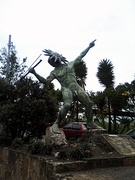 Statue of the mythical Goranchacha in Tunja