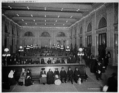 The interior of Grand Central Station, c. 1904