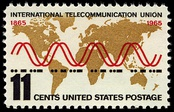 100th anniversary commemorative stamp from the United States, 1965