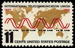International Telecommunication Union – 100th anniversary. U.S. stamp, 1965.