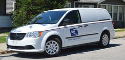 USPS-operated minivan serving in the LLV's role