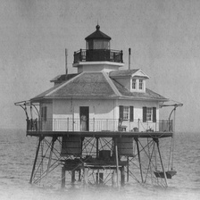 Middle Bay Lighthouse in Mobile Bay