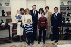 DeWine and his family with President Ronald Reagan in 1985