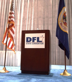 DFL logo used on a lectern at the 2006 DFL state convention.