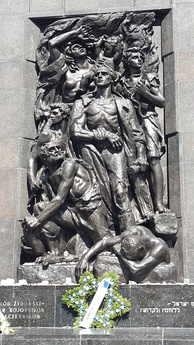Ghetto fighters memorial in Warsaw built in 1948 by sculptor Nathan Rapoport
