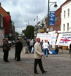 BNP members campaigning in the London Borough of Havering in 2010