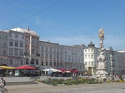 Part of main square with trinity column.