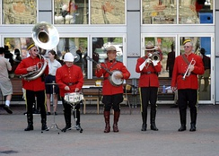 Although the official band of the RCMP has disbanded, several small RCMP veterans bands such as this one still remain.