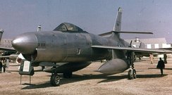 XF-91 Thunderceptor, s/n 46-680 on display