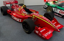 Target-Chip Ganassi Racing  would win four consecutive CART drivers championships with Jimmy Vasser (1996, car pictured), Alex Zanardi (1997 and 1998), and Juan Pablo Montoya (1999).