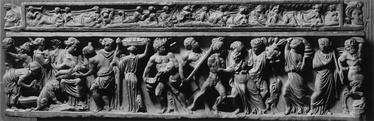 Birth of Dionysus, on a small sarcophagus that may have been made for a child (Walters Art Museum)[144]