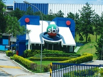 Administrative building of SBT, the second largest TV network in Brazil, in the city of Osasco.