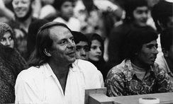 Stockhausen (2 September 1972 at the Shiraz Arts Festival, at the sound controls for the live-electronic work Mantra), who wrote a number of notable electronic compositions in the 1960s and 1970s in which amplification, filtering, tape delay, and spatialization was added to live instrumental performance