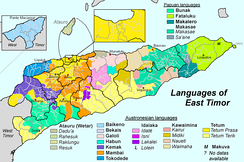 Ethnically diverse East Timor has Portuguese as one of its official languages