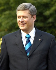 Stephen Harper, 22nd Prime Minister of Canada and former leader of the Conservative Party of Canada. The Party is colloquially called the Tories in Canada.