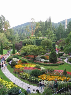 Victoria's world-famous Butchart Gardens are actually located in Central Saanich