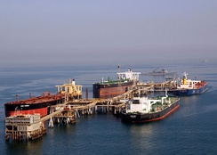 Tankers at the Basra Oil Terminal.