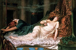 The Death of Cleopatra by Reginald Arthur [fr] (1892)