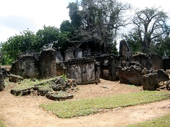 The Tongoni Ruins south of Tanga in Tanzania