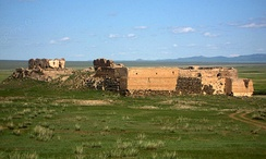 Castle built in northern Mongolia by Tsogt Taij in 1601.