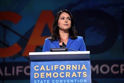 Gabbard campaigning for president in San Francisco, California