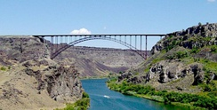 Perrine Bridge on Hwy 93over the Snake River