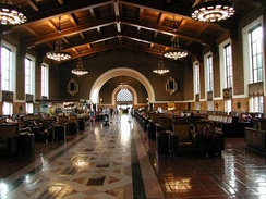 Los Angeles Union Station main passenger concourse