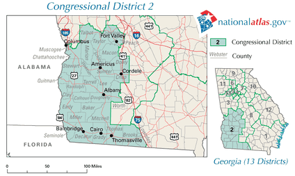 Georgia's 2nd congressional district in 2010