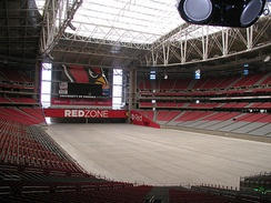 University of Phoenix Stadium on the day of the game.