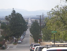 Van Nuys Boulevard Looking South from Lake View Terrace