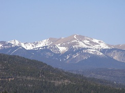 Wheeler Peak, the highest point in the State of New Mexico