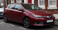 The Toyota Auris Hybrid is the top-selling hybrid electric vehicle in Europe with 427,600 units through 2017.[216]