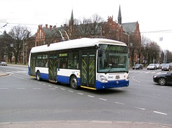 One of the several Trolleybus types in Riga