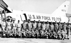 Squadron personnel of the 71st Fighter-Interceptor Squadron[note 2]