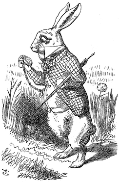 The White Rabbit from Alice in Wonderland, illustrated by John Tenniel (1820–1914)
