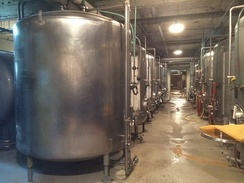 Conditioning tanks at Anchor Brewing Company