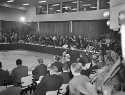 Opening meeting of the Belgo-Congolese Round Table Conference in Brussels on 20 January 1960