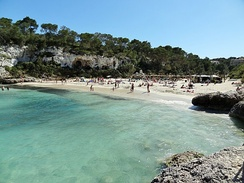 The beaches in the southeast of Mallorca are tourist attractions.