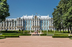 The Catherine Palace (1752–1756) by Bartolomeo Rastrelli