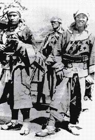 "Chinese Muslim troops from Gansu, also known as the Gansu Braves, killed a Japanese diplomat on 11 June 1900. Foreigners called them the ""10,000 Islamic rabble.""[38]"
